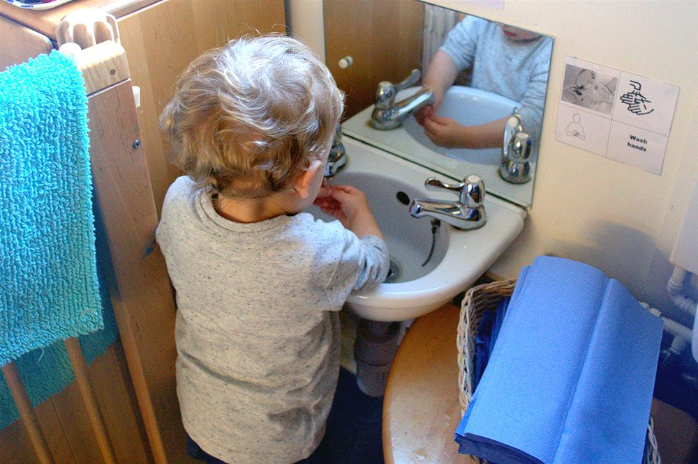Willow Park Montessori Day Nursery Washing Hands