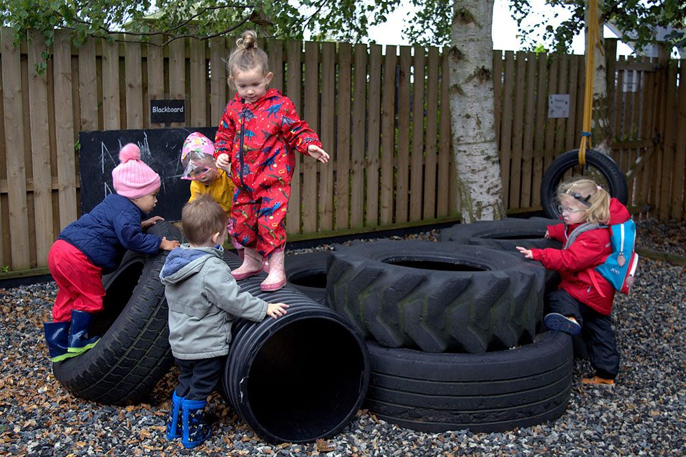 Willow Park Montessori Day Nursery Outdoor Play Tyres